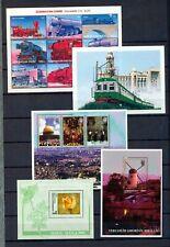 Azerbaijan Flowers Trains Windmill Sheets MNH x 5 (NT 5540
