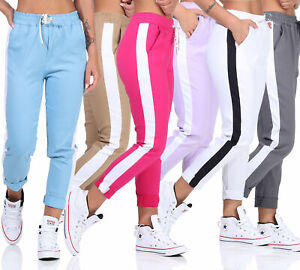 Women's Jogging Trousers Casual Trousers with Stripes
