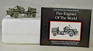 Pewter National Fire Museum Franklin Mint 1904 Merryweather Fire Truck Mint/Box