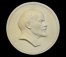 bas-relief of Lenin. porcelain biscuit
