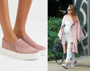 NEW Vince Warren Suede Slip On Sneakers, Hydrangea As seen on Jessica Alba $225