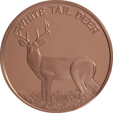 1 oz Copper Round - White Tail Deer