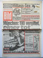 Image zeitung du 22.9.1984, Ingrid steeger, Kay parker, cadeau d'anniversaire