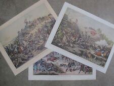 Lot of 3 19th Century Kurz & Allison Civil War Prints