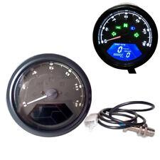 0-12000 RPM Universal LCD Digital Odometer Speedometer Tachometer Auto Gauge LCD
