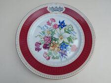 Snhf Platte Au Chateau de Fontainebleau Porcelaine Limoges Bouquet Renaissance