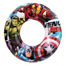 Avengers Marvel Hero Kids Boys Inflatable Swim Ring Beach Swimming Pool Holiday