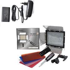 YN-300II LED Video Light Camera + AC Power Adapter f Canon Nikon Sony DV camera