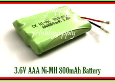 3.6V AAA Ni-MH 800mAh Rechargeable Battery w/. Universal Plug for Cordless Phone