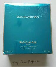 Aquawoman Rochas 100ml/ 3.4oz EDT Spray Women Perfume Sealed Box Discontinued