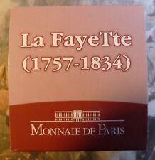 MONNAIE DE PARIS BU LAFAYETTE 1/4 EURO 2007 30 MM EN ARGENT NEUVE SOUS ECRIN