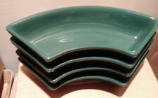 Longaberger Pottery Crescent Dishes set of Four 4 Ivy Green Usa Mint Free Ship!