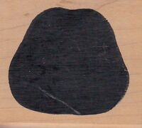 """solid apple denim Wood Mounted Rubber Stamp 2 1/2 x 2""""  Free Shipping"""
