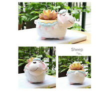 Ceramic Animals Succulent Planter Pots, Cute Unicorn Desktop Flower Plant Pots I