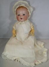 "ANTIQUE 14"" BISQUE-HEAD ARMAND MARSEILLE DREAM BABY DOLL 351/3'/2K GERMANY"