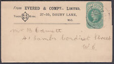 1902 Evered & Compy Limited QV 1/2d green Newspaper Wrapper