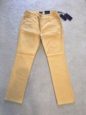 NWT NYDJ Not Your Daughters Jeans GOLD MUSTARD YELLOW Sheri Skinny Size 10P
