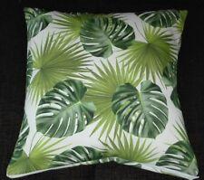 Kissenbezug, Kissenhülle 40x40 cm, grüne Blätter, Dekokissen, Handarbeit, neu