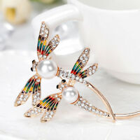 Women Rhinestone Dragonfly Insect Brooch Lapel Collar Pin Fashion Jewelry Gift