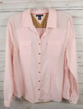 Tommy Hilfiger Pinch Pleat Shirt Top XL Pink