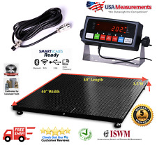 "5 Year Warranty Usa Measurements 1,000 lb x .2 lb 40"" x 40"" Floor Scale"