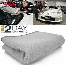 """Microfiber CLEANING CLOTH 36"""" x 25"""" Waffle Weave Soft Car Auto Drying Wash TOWEL"""