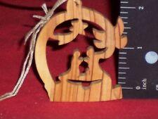 "Christmas-Holiday-Winter Ornaments; Oak Wood Silhouette Nativity Scene, 2½"""