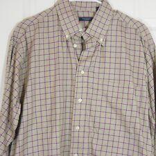Burberry London* Mens Multi Color Plaid MEDIUM LS 100% Cotton Button Front Shirt