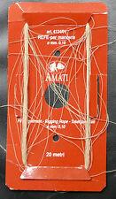 ACCASTILLAGES BATEAUX BOIS : 20 METTES DE FIL ECRU POUR HAUBANS DIAMETRE 0,10m/m