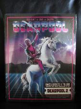 Deadpool Unicorn Slip Cover Blu-ray DVD Digital HD Walmart Exclusive Mint New