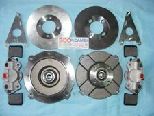 FIAT 500 D/F/L/R 126 KIT MODIFICA FRENI A DISCO ANTERIORI ATTACCO ORIGINALE4X190