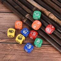 2pcs Finger Guessing Game Dice Rock Paper Scissors Game Toys Stone Board Gam DR