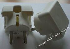 Bachmann Schukostecker, Schutzkontaktstecker, weiss, Winkelform, extra flach