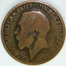1917 HALF PENNY OF GEORGE V.     #WT15478
