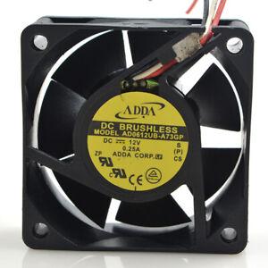 ADDA 6025 6cm AD0612UB-A73GP 12V 0.25A 3-pin double ball CPU inverter fan