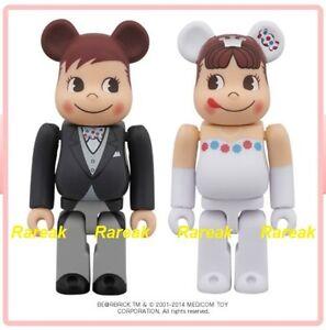 Medicom Be@rbrick 2014 Fujiya Milky Peko & Poko 100% Wedding Bearbrick boxset