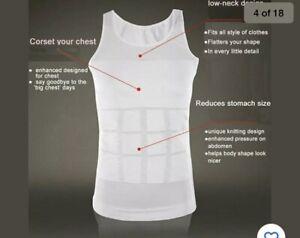 Men's Slimming Body Shaper Vest Abs Abdomen Compression Shirt Workout Tank Tops