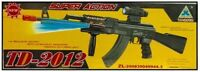Toy Kids TD2012 Military Assault Machin Gun with Vibration Sound Flashing Light