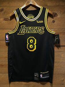 "Kobe Bryant #8 Lakers City Edition Lore Series BLACK MAMBA! NWT and ""WISH"" patch"