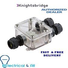 Knightsbridge JBAV004 JB IP68 16A Waterproof Connector Box, Grey