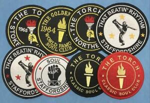 NORTHERN SOUL PATCH - SELECTION OF THE TORCH STOKE ON TRENT STAFFS SOUL PATCHES