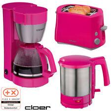 Cloer Frühstücksset Toaster Wasserkocher Kaffeemaschine pink Küchenset Set NEU