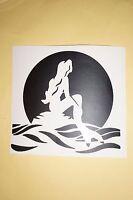 Bumper Sticker Car Vinyl  decal window art outdoor door ocean sea Mermaid