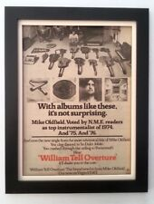 MIKE OLDFIELD*William Tell*1977*ORIGINAL*POSTER*AD*FRAMED*FAST WORLD SHIP