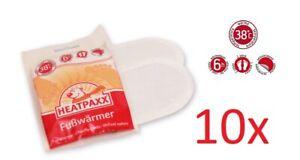 10 x Fußwärmer Schuhwärmer Thermopads Zehenwärmer Sohlenwärmer Heatpaxx