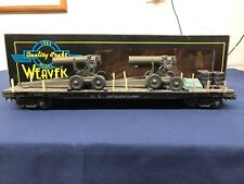 Weaver Custom Army 50' Flat Car w/ Army Cannons & Tires #17070 Mth Lionel K-line