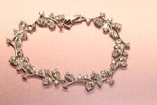 Rubyshire 1CT White Diamond Tennis Bracelet in 18K Gold Finish for Women