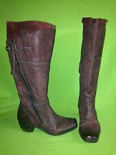 Burgundy MJUS Slate Leather & Nubuck Boots 6 36