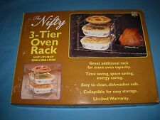 VTG NIB NEW In Box Nifty 3-Tier Oven Rack and Companion Kitchen Rack!