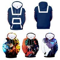My Hero Academia Boku Izuku Shoto Hoodie Men's Casual Wear 3D Printed Sweats